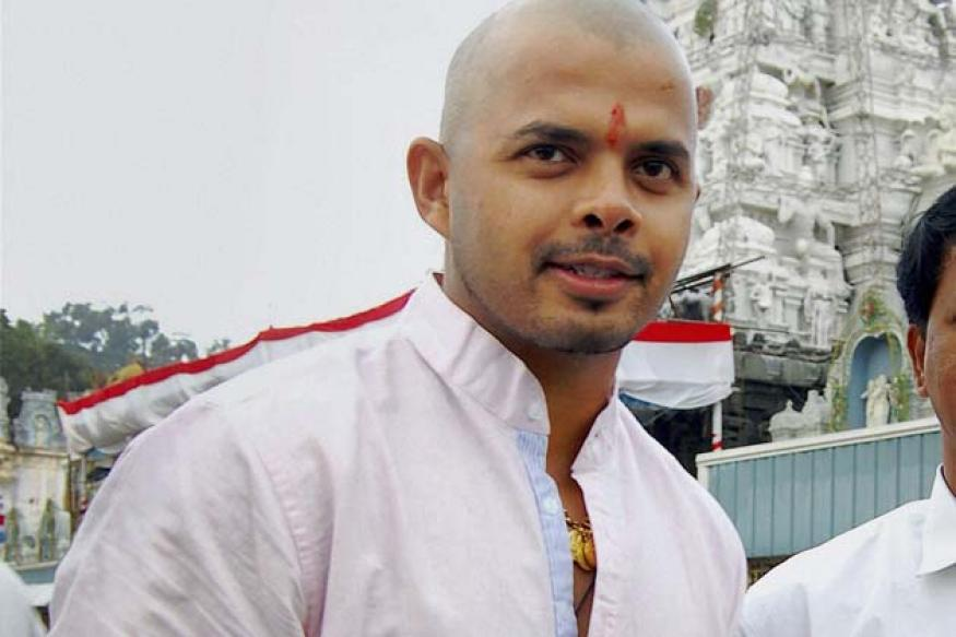 Snapshot: Cricketer Sreesanth has his head shaved