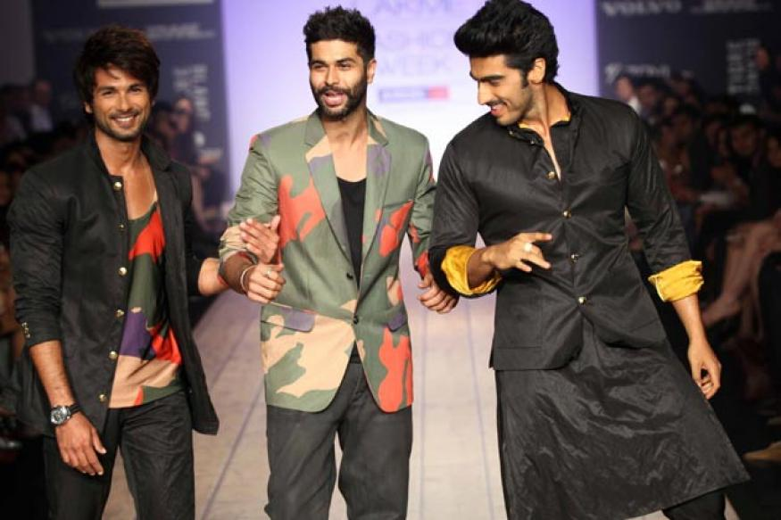 LFW: Shahid, Arjun walk the ramp for Kunal Rawal