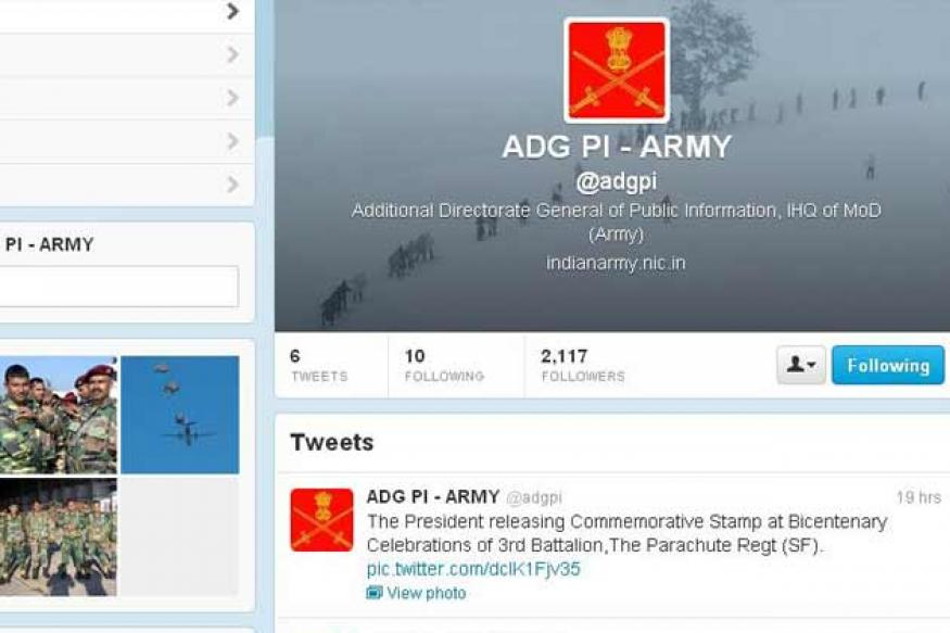 Indian Army launches Twitter account with handle @adgpi