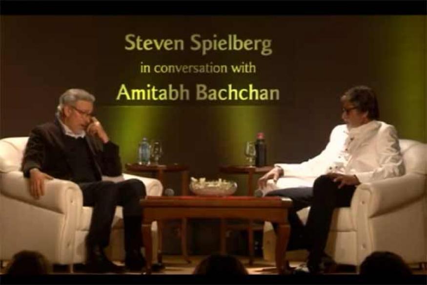 Watch Amitabh in conversation with Steven Spielberg