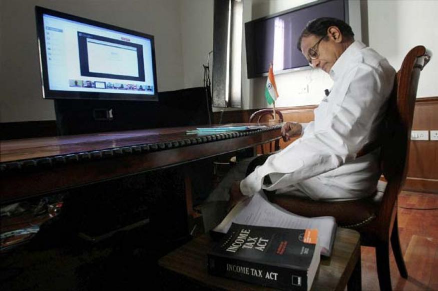 Snapshot: Finance Minister P Chidambaram's first Google+ Hangout