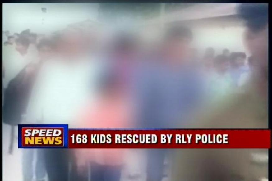 168 children rescued from train, trafficking agents arrested