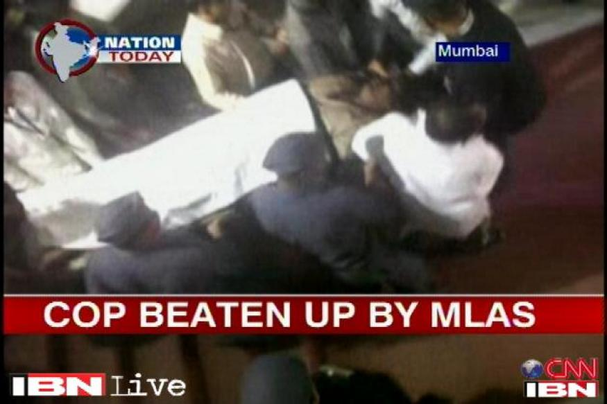 Maharashtra MLAs who thrashed policeman to appear before court