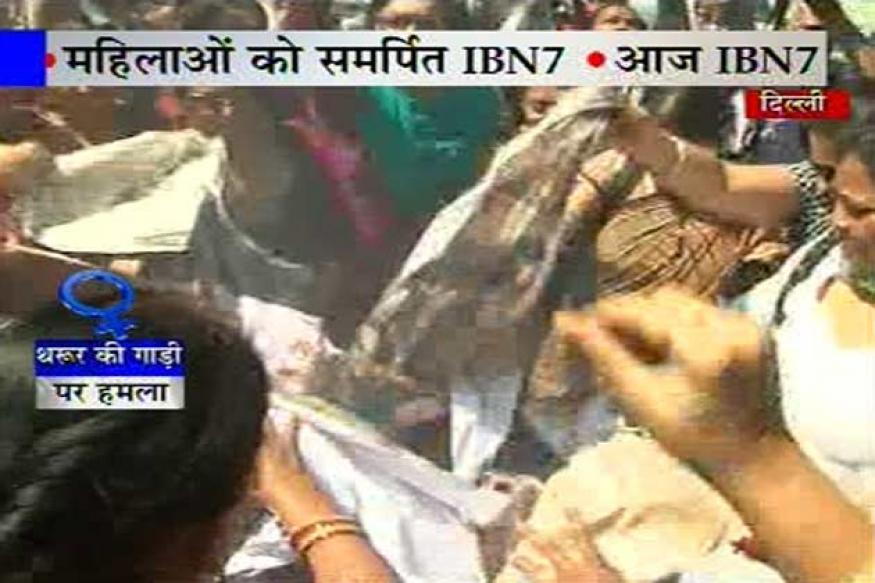 BJP women workers force Tharoor to leave function
