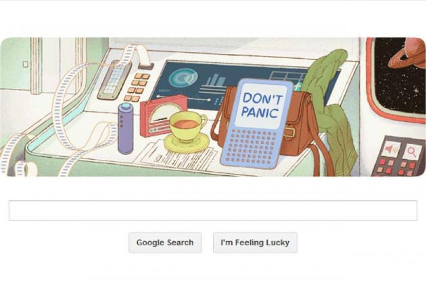 Google celebrates Douglas Adams' 61st birthday with a doodle
