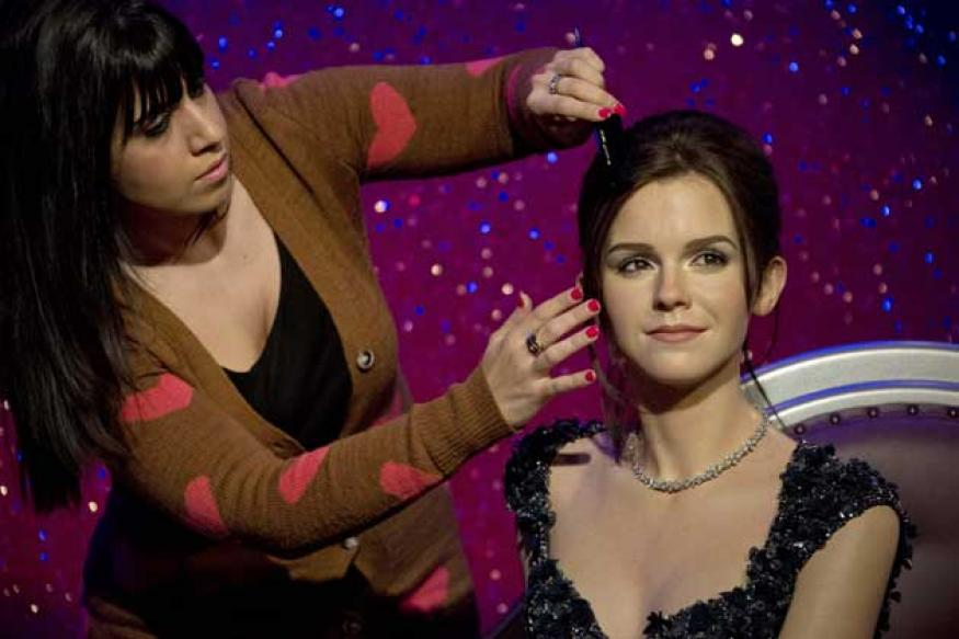 Snapshot: Emma Watson gets a wax double at Madam Tussauds