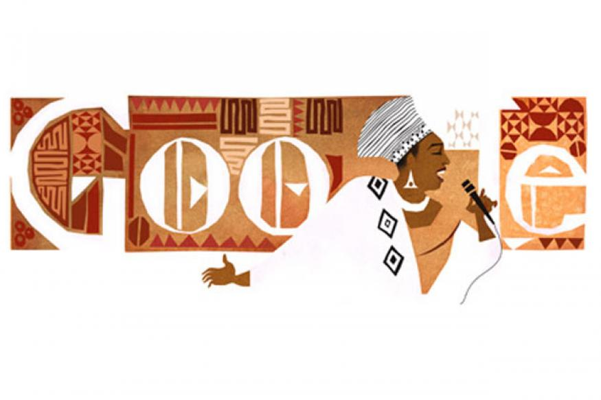 Google doodles 'Mama Africa' Miriam Makeba's 81st birthday