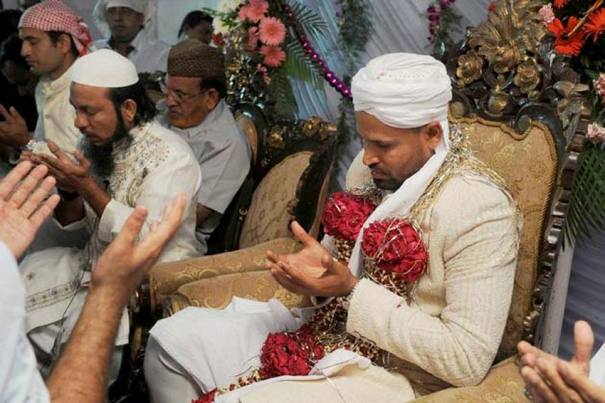 Snapshot: Cricketer Yusuf Pathan gets married to fiancee Afreen