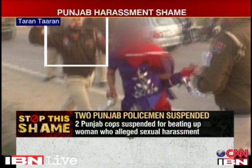 Woman who was beaten up by police barges into Punjab Assembly