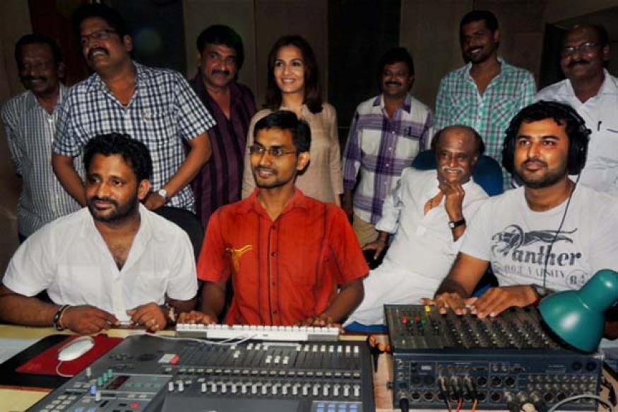 Snapshot: Rajinikanth seen dubbing for Kochadaiyan