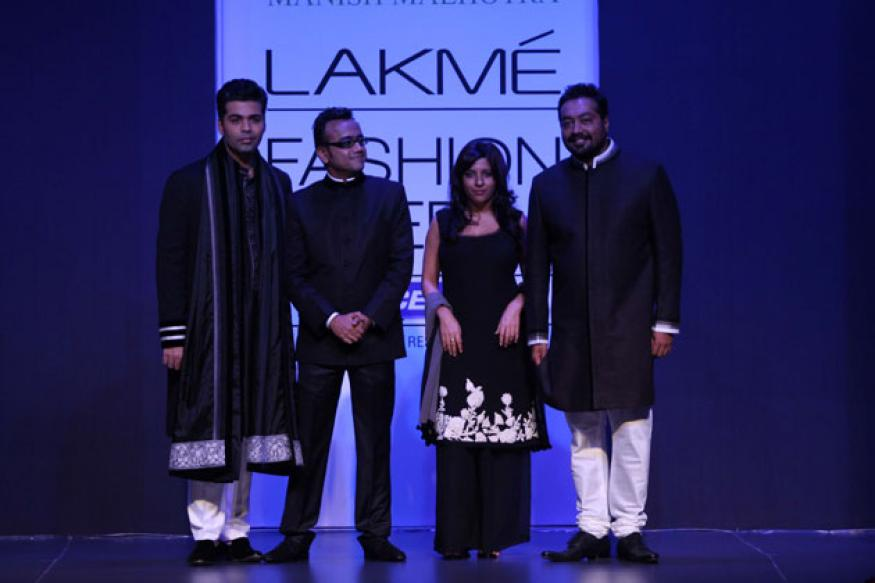 Snapshot:Karan Johar, Zoya Akhtar, Anurag Kashyap walk the ramp at LFW