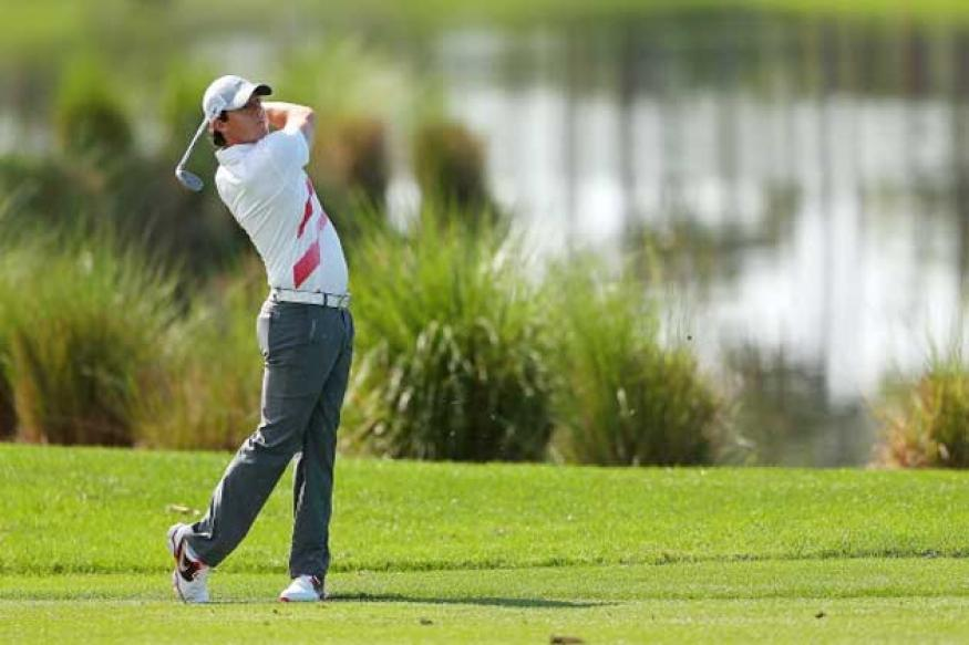 Rory McIlroy walks out of Honda Classic