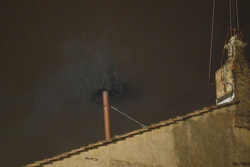 Black smoke signals no Pope elected at first conclave vote