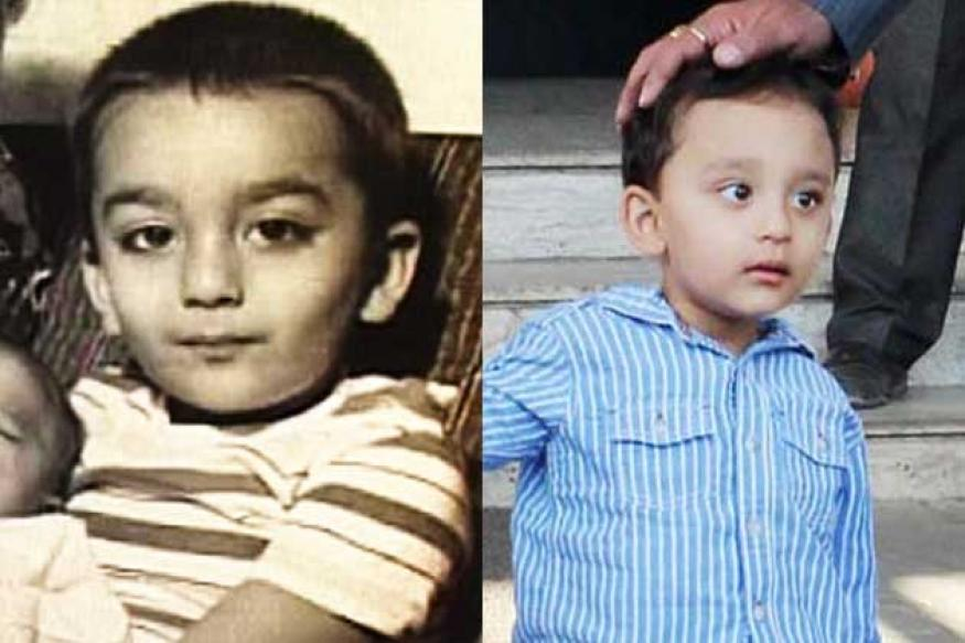 Snapshot: Sanjay Dutt's son is his spitting image at 3