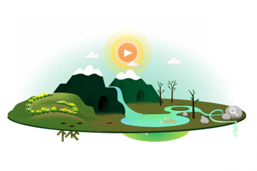 Earth Day 2013: Google doodles the change of seasons