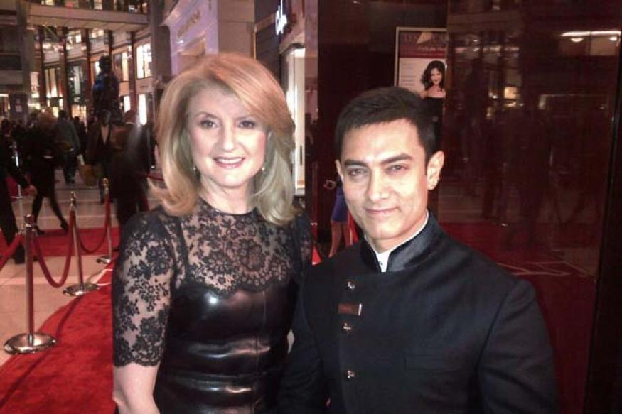 Snapshot: Superstar Aamir Khan poses with Arianna Huffington