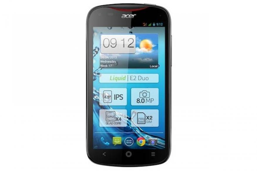 Acer Liquid E2 with quad-core processor, Android Jelly Bean announced