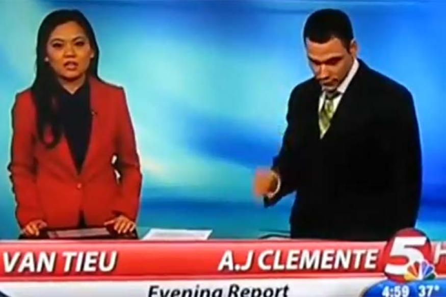 F****** s***!: News anchor begins career by swearing during live bulletin