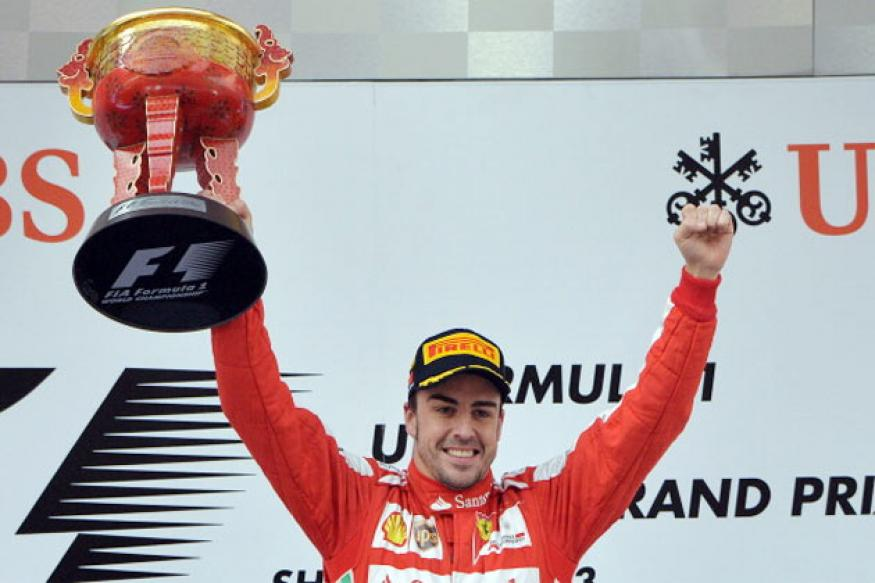 Ferrari's Fernando Alonso wins Chinese Grand Prix 2013