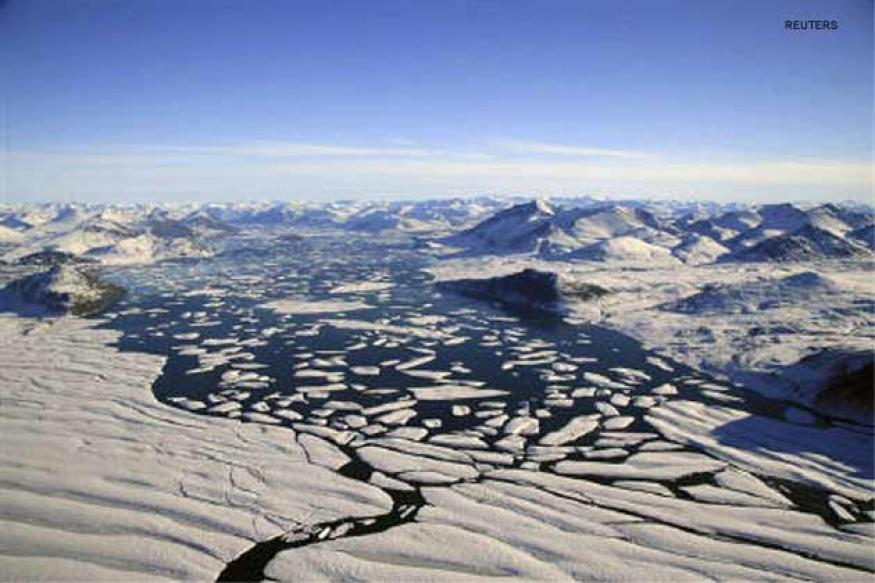 Antarctic summer ice melting ten times faster