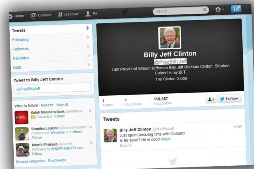 @PrezBillyJeff: Bill Clinton is now on Twitter