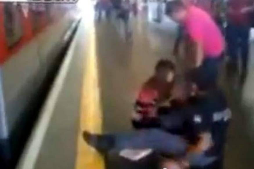 Watch: Woman miraculously saved from a speeding train in Brazil