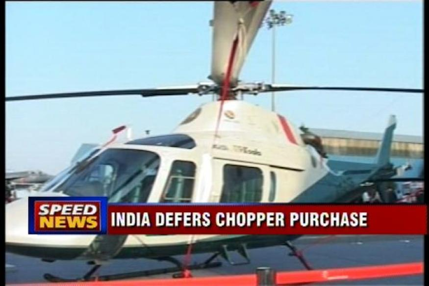 Government defers purchase of 197 choppers over bribery claim
