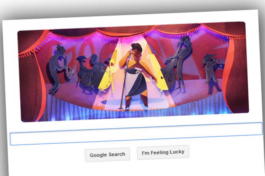 Google honours Ella Fitzgerald on her 96th birthday with a doodle