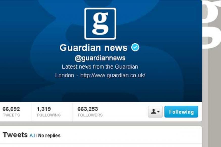 UK: Guardian newspaper's Twitter feeds hacked