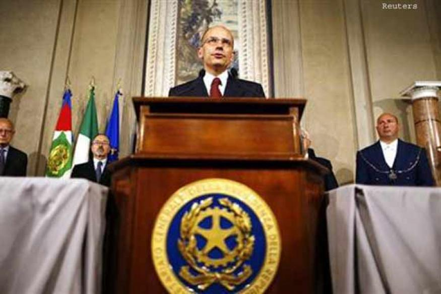 Stalemate over, Italy's Letta names new government