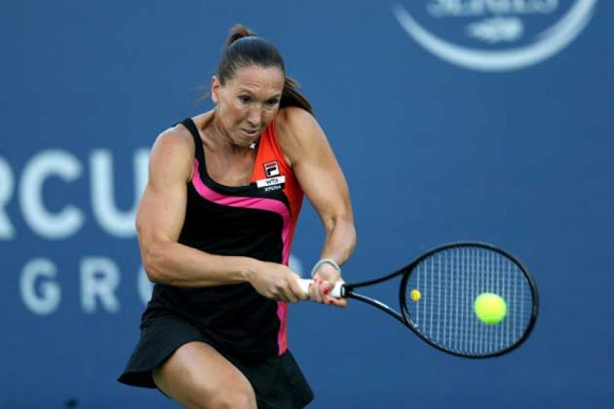 Jankovic advances to quarters at rainy Family Circle Cup