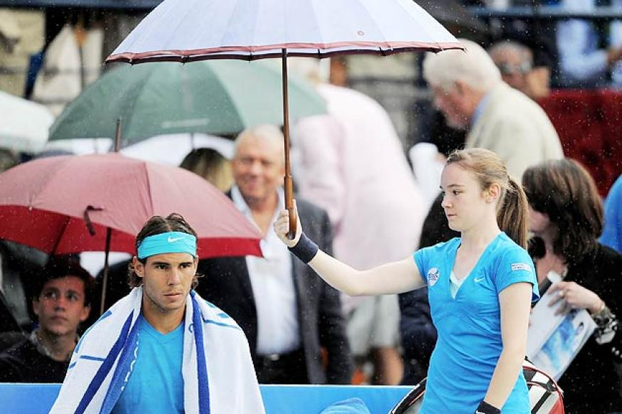 Nadal faces busy Friday after rain hits Barcelona Open