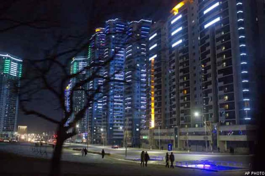 Pyongyang glitters, but rest of North Korea still dark