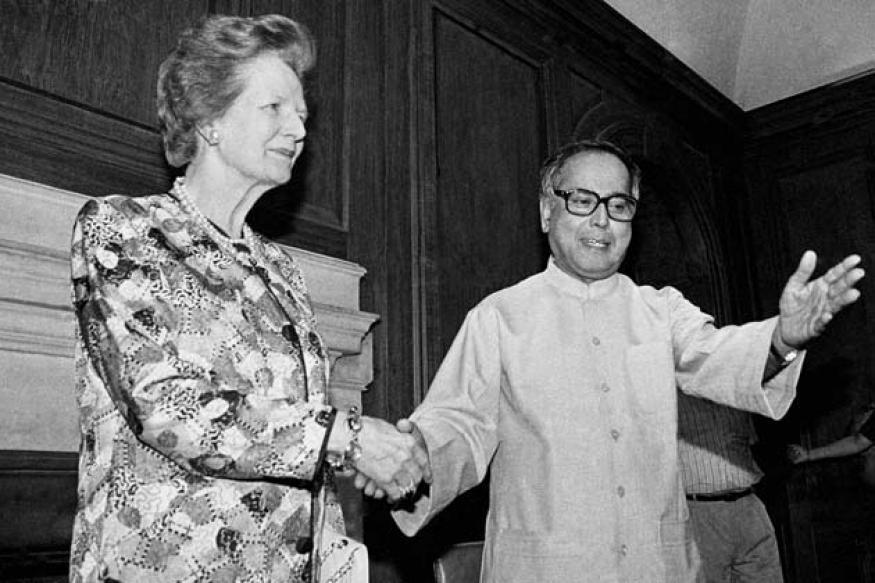 Snapshot: Rare photo of Margaret Thatcher with Pranab Mukherjee