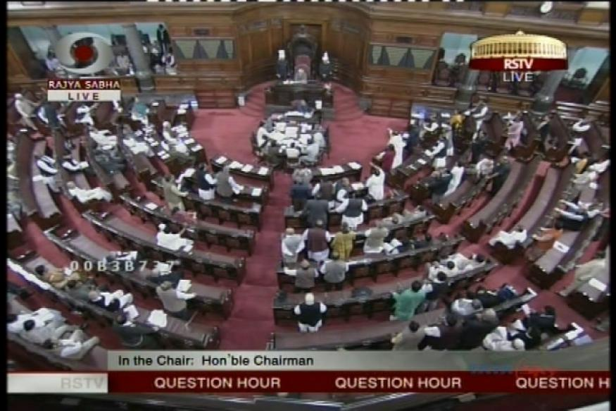 Rajya Sabha adjourned till noon after BJP, SP uproar