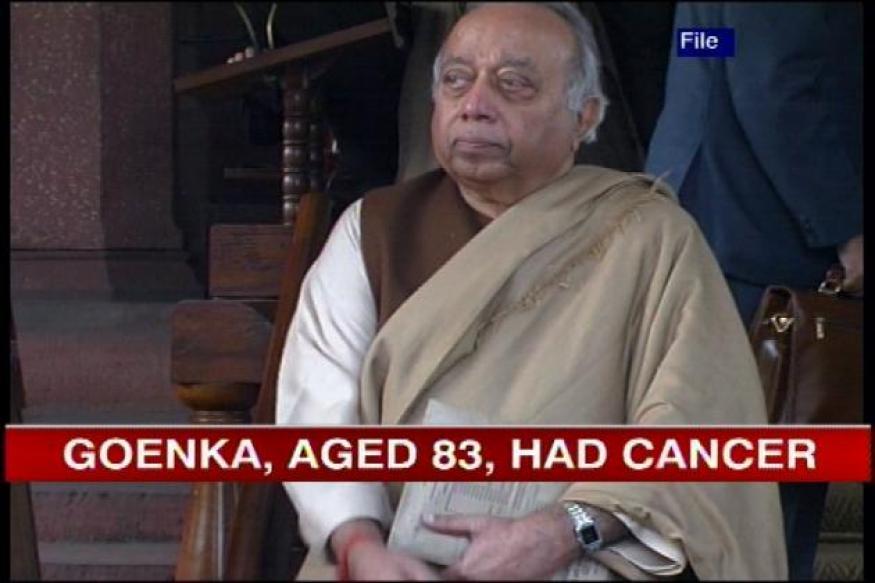 President condoles demise of Rama Prasad Goenka