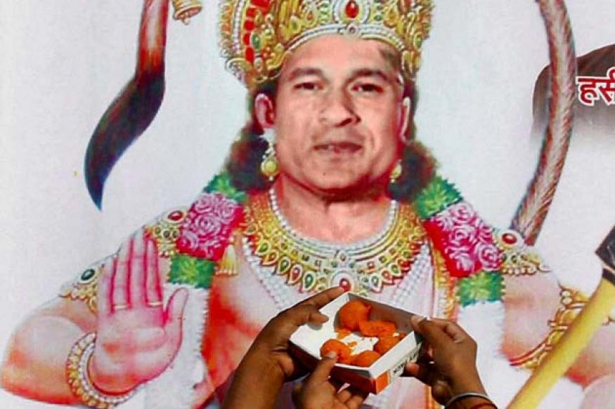 Snapshot: Fans superimpose Sachin Tendulkar's face on poster of Hanuman