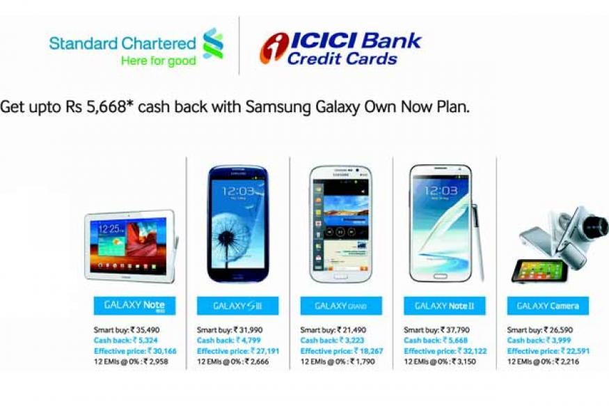 Samsung offers 15 per cent cashback on five Galaxy devices