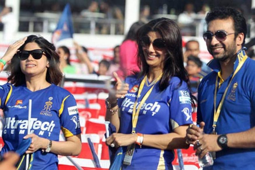Snapshot: Shilpa Shetty celebrates the win of Rajasthan Royals