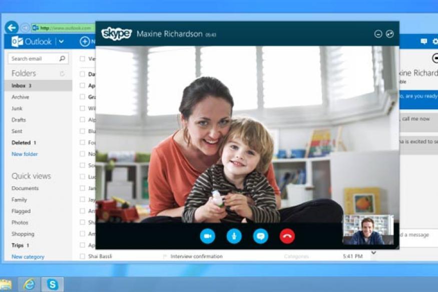 Microsoft integrates Skype into Outlook.com