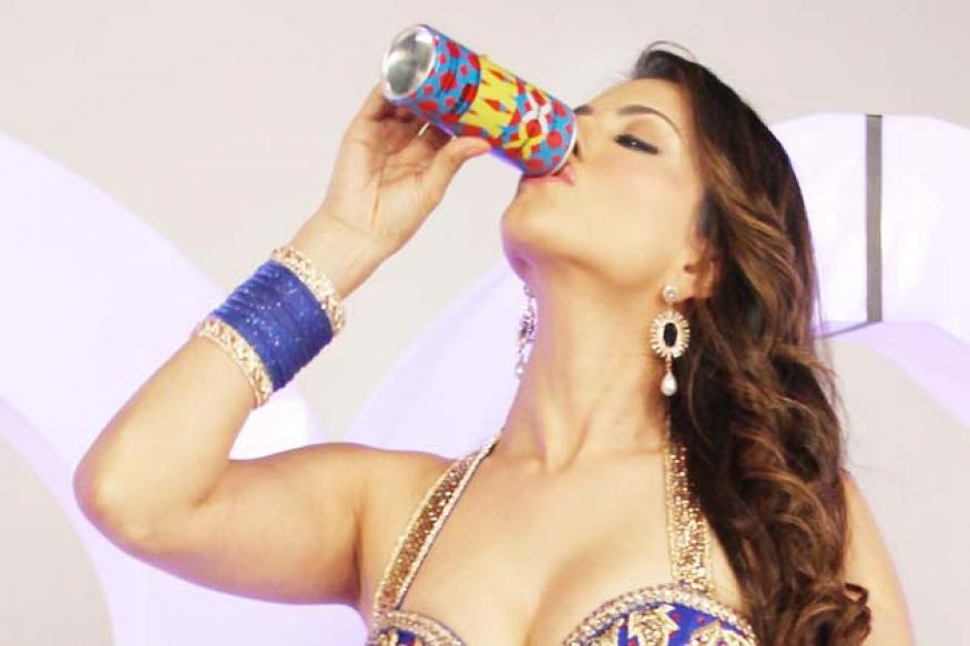 Snapshot: Sunny Leone shoots for XXX drink at Filmistan