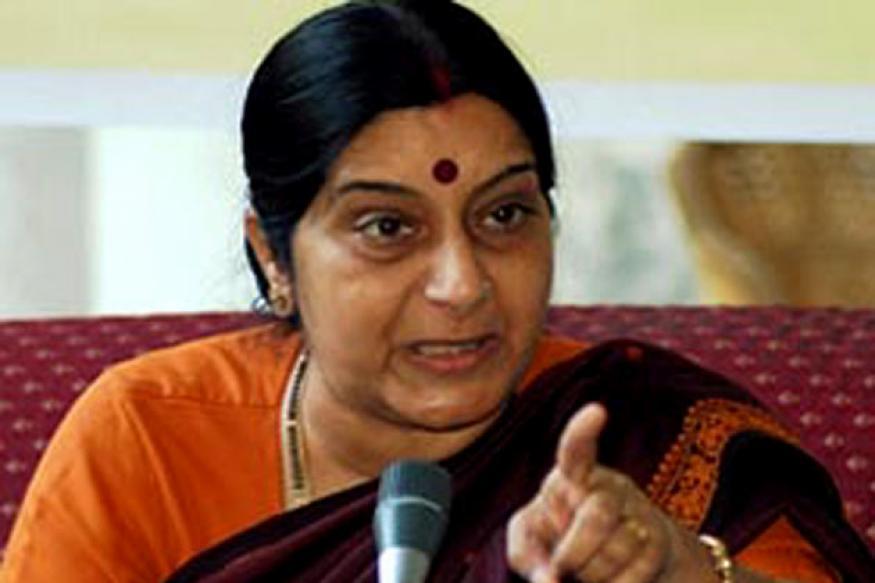Sushma Swaraj targets Sonia, Meira Kumar