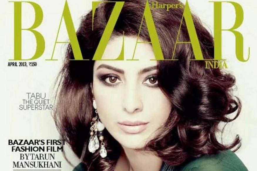 Snapshot: Tabu looks stunning on the cover of 'Harper's Bazaar' magazine