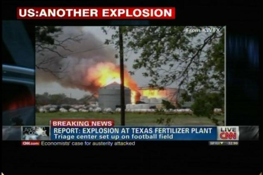 US: 2 dead, 100 injured in Texas fertilizer plant explosion