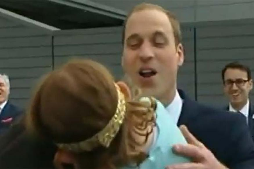 Watch: How a four-year-old girl rejects a kiss from Prince William
