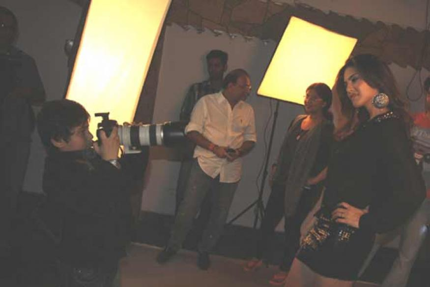 Snapshot: 7-year-old Chandresh captures Sunny Leone