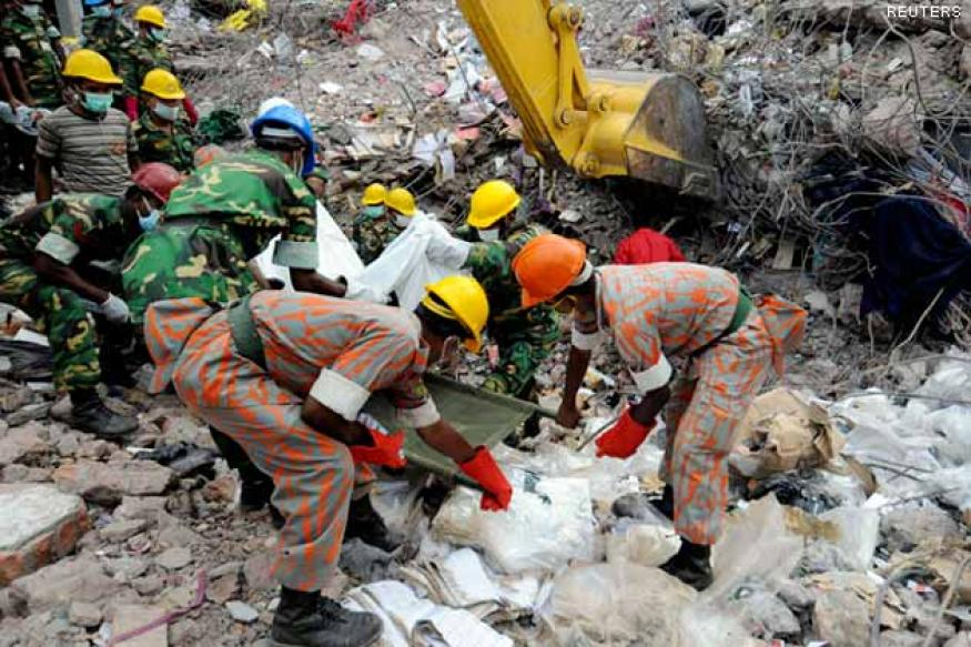 Bangladesh building collapse: Woman rescued alive after 17 days