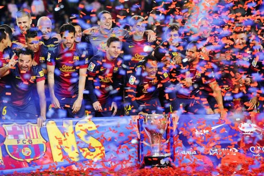Barcelona toast title with 2-1 win over Valladolid