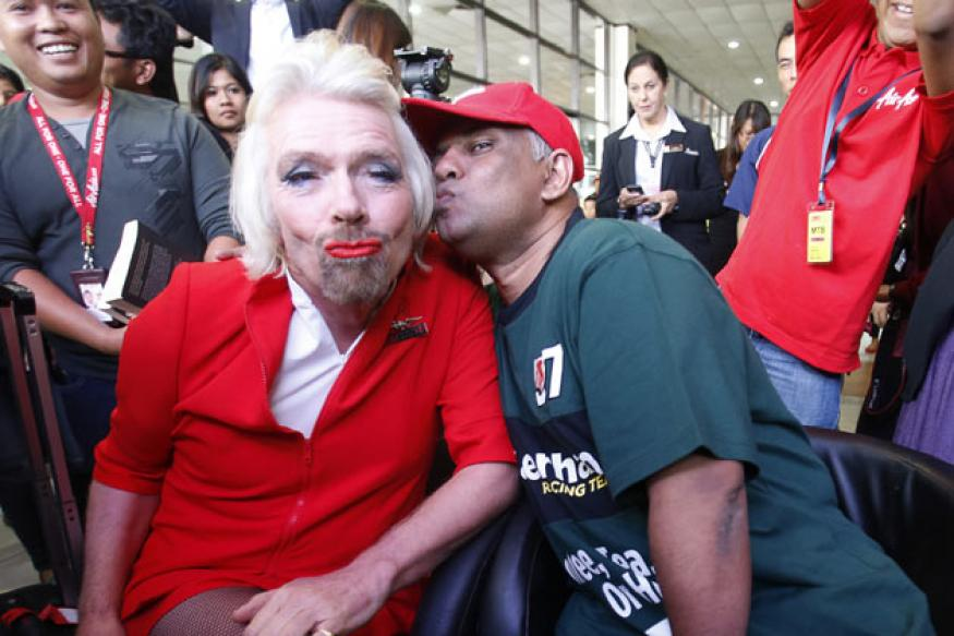 Snapshot: Why is business magnate Richard Branson dressed as a woman?