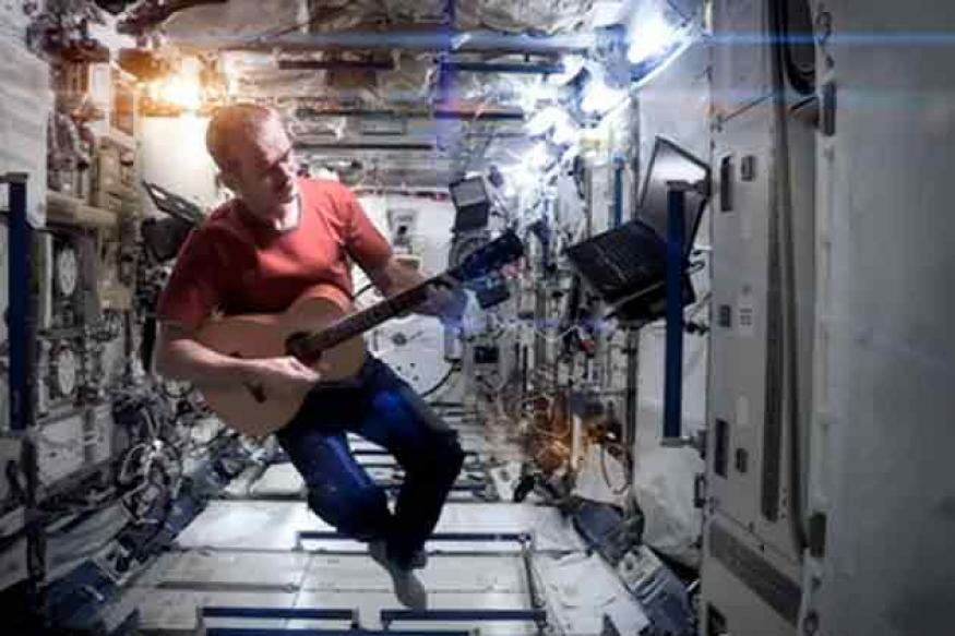 Astronaut's music video aboard ISS goes viral
